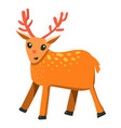 flat cartoon style raindeer vector image