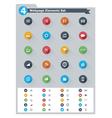 Flat webpage elements icon set vector image