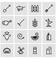line farming icon set vector image