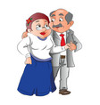 mature couple looking at each other vector image