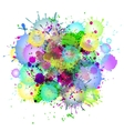 Multicolored watercolor paint splatters vector image