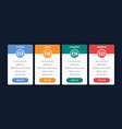 pricing table template for business plan vector image