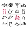 simple food icons set vector image