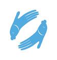fish hand log vector image