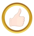 Hand with thumb up icon vector image