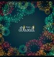 beautiful fireworks background for diwali festival vector image