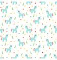 seamless pattern with cute blue unicorns fashion vector image