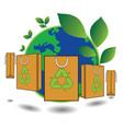 bag green world concept vector image