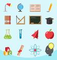 Education Flat Icon Design Set vector image