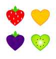 heart shaped fruit vector image