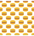 Hamburger pattern seamless vector image