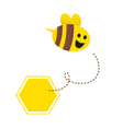 cartoon honey bee vector image