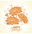 flowers orange vector image