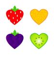Heart shaped fruit vector image