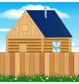 Solitary house on nature vector image