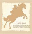 vintage cowboy silhouette poster design vector image