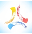Brushstroke Abstract symbol of the triad vector image