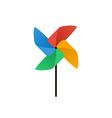 Propeller pinwheel icon flat design vector image