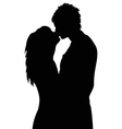 Kissing vector image