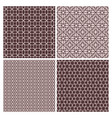 oriental rose and brown decorative patterns vector image