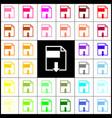 file download sign  felt-pen 33 colorful vector image