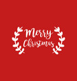 christmas text quote typography art vector image