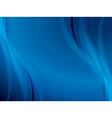 blue background with wavy lines vector image vector image