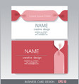 business card design with inverted ribbons vector image vector image