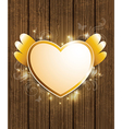Decorative background with golden heart vector image vector image