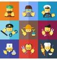 flat icon set of profession vector image