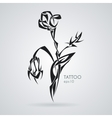 Rose bouquet Tattoo Tribal vector image