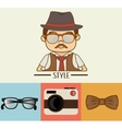 Hipster accesories design vector image