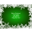 Green and white shiny snowflakes Christmas vector image vector image