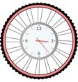 clock on bike wheel isolated on white vector image