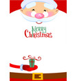 chistmas greeting card vector image