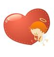Cupid With Big Heart vector image