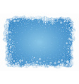 frosty snowflakes background vector image