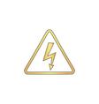 High voltage computer symbol vector image