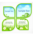 Nature spring banners vector image
