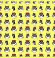 owls family with yellow backdrop vector image