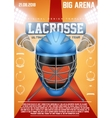 Poster Template of lacrosse sports vector image