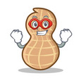 super hero peanut character cartoon style vector image