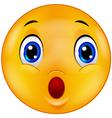 Surprised emoticon smiley vector image