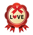 Ribbon love icon vector image vector image