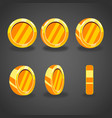 set with cartoon coins vector image