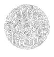 Coffee break coffee cups frame - wreath vector image
