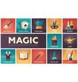 magic - modern flat design icons set vector image