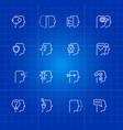 human mind processes icons set vector image