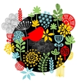Birds flowers and other nature print vector image