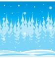 Wood in winter vector image vector image